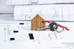 Husplan och tangent Arkivfoton