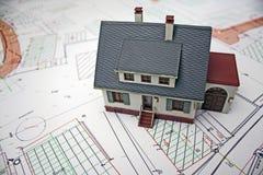 husplanläggning Royaltyfria Bilder