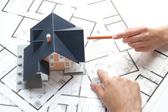 husplanläggning Arkivbilder