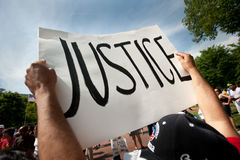husprotestwhite Royaltyfri Bild