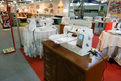Husqvarna Viking automatic digital sewing and embroidery machine royalty free stock photography