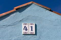 husregistreringsskylt Fotografering för Bildbyråer