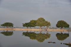 Hussain sagar lake, Tankbund, Andhra Pradesh, India Stock Image