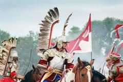 Hussar à ailes par polonais Photo stock