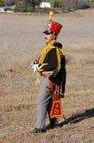 Hussar. Russian cavalry. Kiev's hussar regiment uniform. Crimean War time Stock Image