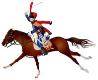 Hussar, Cavalier on a horse Stock Photo