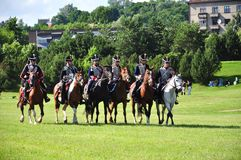 Hussar cavalry Stock Photo
