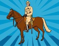 Hussar light horseman. Vector art of a Hussar light horseman vector illustration