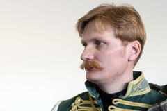 Hussar profile Royalty Free Stock Image