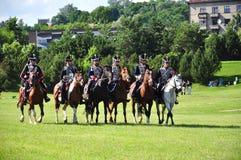 Hussarkavallerie Stockfoto