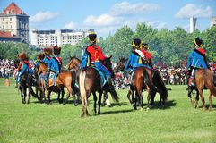 Hussarkavallerie Lizenzfreies Stockfoto