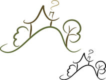 hussymbol enkel ii Royaltyfri Bild