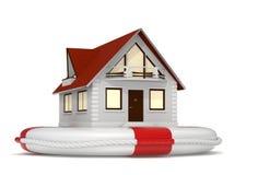 hussymbolsförsäkring Arkivbilder