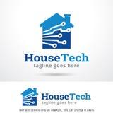 HusTech Logo Template Design Vector Royaltyfri Fotografi