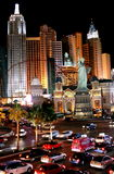 Hustle and bustle. The hustle and bustle of New York, New York in Las Vegas on a saturday night Stock Images