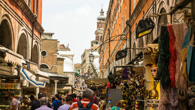 Hustle and bustle city of Venice Stock Photography