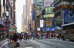 Hustle Bustle Manhattan Stock Photo