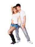 Hustle dancers Stock Photography