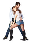Hustle dancers Royalty Free Stock Photography