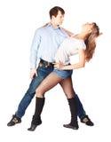 Hustle dancers Royalty Free Stock Photo