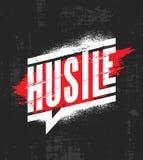 hustle Inspirerande mall för motivationcitationsteckenaffisch Begrepp för design för vektortypografibaner på Grungetextur royaltyfri illustrationer