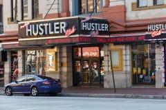 Hustler Club Storefront. Entrance and storefront to a Larry Flynt Hustler Club Royalty Free Stock Image