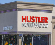 Hustler Hollywood in Los Angeles - LOS ANGELES - CALIFORNIA - APRIL 20, 2017 Royalty Free Stock Images