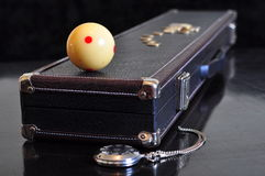 Old style cue case. Royalty Free Stock Image