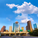 Huston skyline downtown from west Texas US Royalty Free Stock Photos