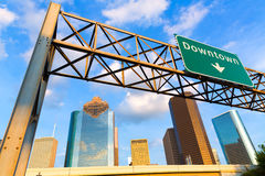 Huston skyline downtown from west Texas US Royalty Free Stock Images