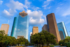 Huston skyline from west at Texas US Royalty Free Stock Images