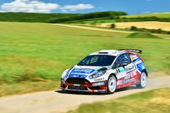 Hustopece, Czech Republic June 18, 2016. Rally car. Royalty Free Stock Images