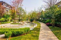 Husträdgård arkivfoton