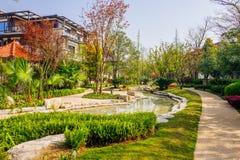 Husträdgård arkivbild