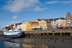 Husum harbor Stock Photo