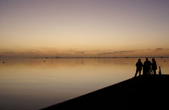 Husum Sonnenuntergang. Evening tendency at the sea Stock Photography