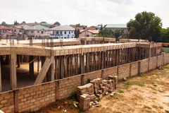 Husutveckling i Ghana royaltyfri foto