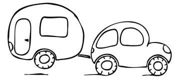 husvagn royaltyfri illustrationer