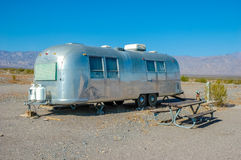 Husvagn Death Valley nationalpark, Kalifornien Arkivfoton