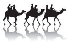Husvagn för kamel s stock illustrationer