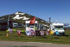 Husvagnar av Le-Tour de France Royaltyfria Foton