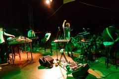 Husvagnslott på fria Fest Troja 2012 Arkivbilder
