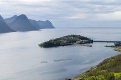 Husøy, Norge, rocks, coast, harbor Royalty Free Stock Photos