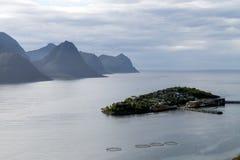Husøy, Norge, rocks, coast, harbor Royalty Free Stock Photo