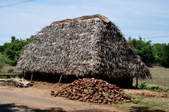 Hut. A large hut stored in salt and packed well Royalty Free Stock Photos