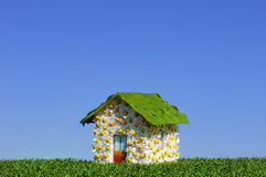 Hut. Concept of an ecological house Stock Photography