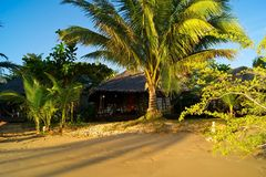 Hut. A rustic beach hut in thailand Stock Photos