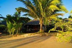 Hut. A rustic beach hut in thailand stock photos