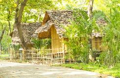 Hut. Two small bamboo hut Stock Photo