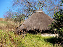 Hut. A straw Zulu hut built on a farm Stock Photography